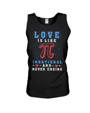 LOVE IS LIKE PI IRRATIONAL AND NEVER ENDING Unisex Tank thumbnail