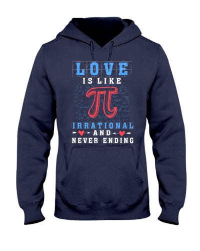 LOVE IS LIKE PI IRRATIONAL AND NEVER ENDING