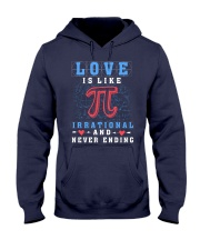 LOVE IS LIKE PI IRRATIONAL AND NEVER ENDING Hooded Sweatshirt thumbnail