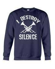 I Destroy silence Crewneck Sweatshirt thumbnail