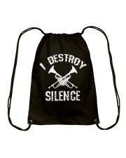 I Destroy silence Drawstring Bag thumbnail