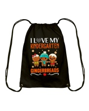 I LOVE MY KINDERGARTEN GRADE GINGERBREADS  Drawstring Bag thumbnail