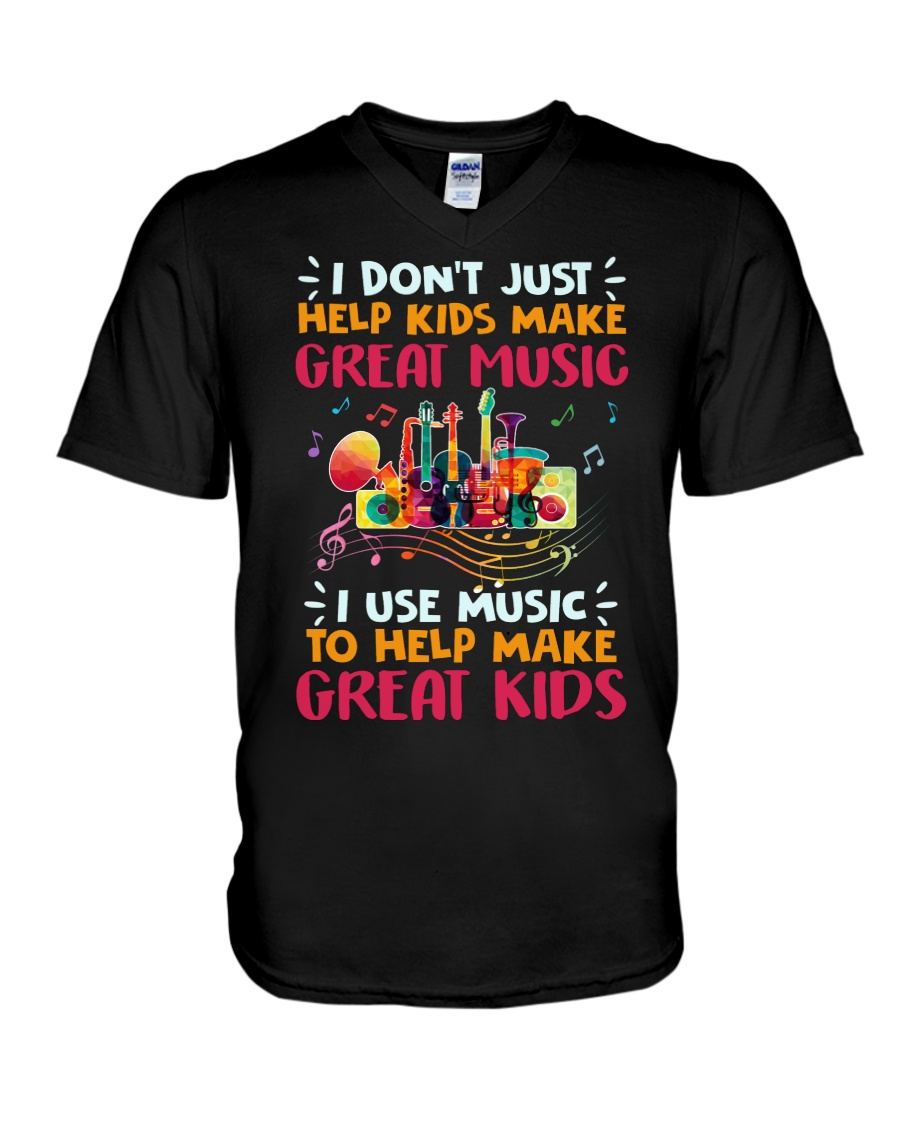 Great Music Great Kids V-Neck T-Shirt