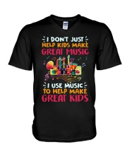 Great Music Great Kids V-Neck T-Shirt thumbnail