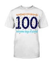 100 AWESOME DAYS OF SCHOOL Classic T-Shirt front
