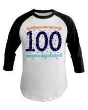 100 AWESOME DAYS OF SCHOOL Baseball Tee thumbnail