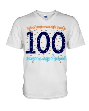100 AWESOME DAYS OF SCHOOL V-Neck T-Shirt thumbnail