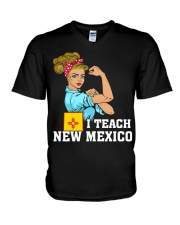 I TEACH NEW MEXICO V-Neck T-Shirt thumbnail