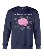 Retired Teacher Brain Crewneck Sweatshirt thumbnail