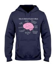 Retired Teacher Brain Hooded Sweatshirt thumbnail