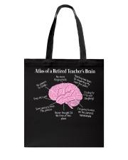 Retired Teacher Brain Tote Bag thumbnail