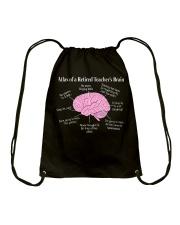 Retired Teacher Brain Drawstring Bag thumbnail