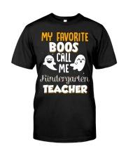 Kindergarten Teacher Halloween Classic T-Shirt front