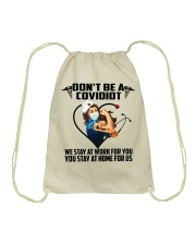 Don't be a Covidiot Drawstring Bag thumbnail