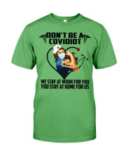 Don't be a Covidiot Premium Fit Mens Tee thumbnail