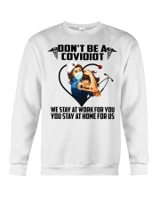 Don't be a Covidiot Crewneck Sweatshirt thumbnail
