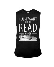 I Just Want you to read a book Sleeveless Tee thumbnail