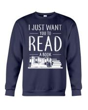 I Just Want you to read a book Crewneck Sweatshirt thumbnail