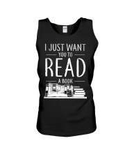 I Just Want you to read a book Unisex Tank thumbnail