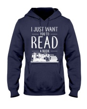 I Just Want you to read a book Hooded Sweatshirt thumbnail