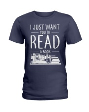 I Just Want you to read a book Ladies T-Shirt thumbnail