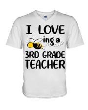 I Love being a 3rd grade Teacher V-Neck T-Shirt thumbnail