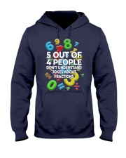 5 OUT OF 4 PEOPLE DON'T UNDERSTAND JOKES Hooded Sweatshirt thumbnail