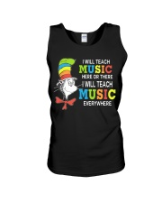 I WILL TEACH MUSIC EVERYWHERE Unisex Tank thumbnail