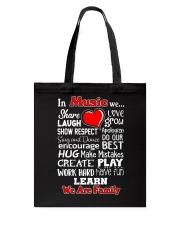 In music We are Family Tote Bag thumbnail