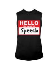 Hello My Name is Speech Sleeveless Tee thumbnail