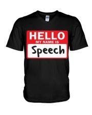 Hello My Name is Speech V-Neck T-Shirt thumbnail