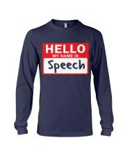 Hello My Name is Speech Long Sleeve Tee thumbnail