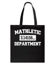 MATHLETIC DEPARTMENT Tote Bag thumbnail