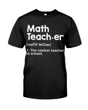 Math Teacher Classic T-Shirt front