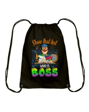 Show that test Who is Boss Drawstring Bag thumbnail