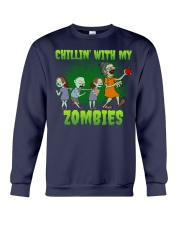 CHILLIN' WITH MY ZOMBIES Crewneck Sweatshirt thumbnail