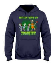 CHILLIN' WITH MY ZOMBIES Hooded Sweatshirt thumbnail