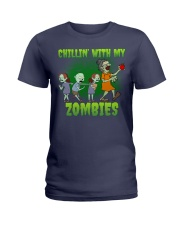 CHILLIN' WITH MY ZOMBIES Ladies T-Shirt thumbnail