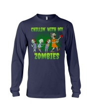 CHILLIN' WITH MY ZOMBIES Long Sleeve Tee thumbnail