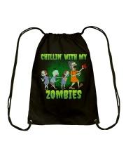 CHILLIN' WITH MY ZOMBIES Drawstring Bag thumbnail