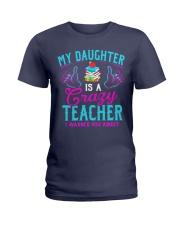 My daughter is a crazy Teacher Ladies T-Shirt thumbnail