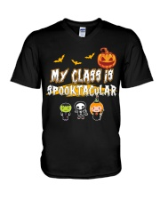 My Class is Spooktacular V-Neck T-Shirt thumbnail