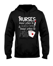Nurses know when to hold 'em Hooded Sweatshirt thumbnail
