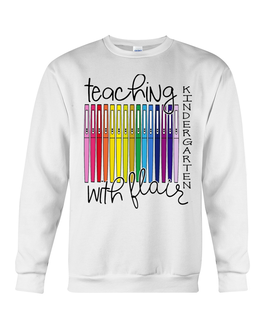 Teaching Kindergarten with Flair Crewneck Sweatshirt