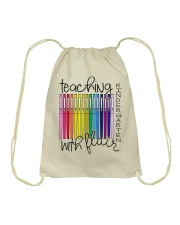 Teaching Kindergarten with Flair Drawstring Bag thumbnail