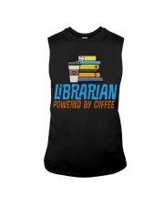 LIBRARIAN POWERED BY COFFEE Sleeveless Tee thumbnail