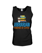 LIBRARIAN POWERED BY COFFEE Unisex Tank thumbnail