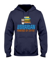 LIBRARIAN POWERED BY COFFEE Hooded Sweatshirt thumbnail