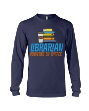 LIBRARIAN POWERED BY COFFEE Long Sleeve Tee thumbnail