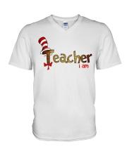 Teacher i am V-Neck T-Shirt thumbnail